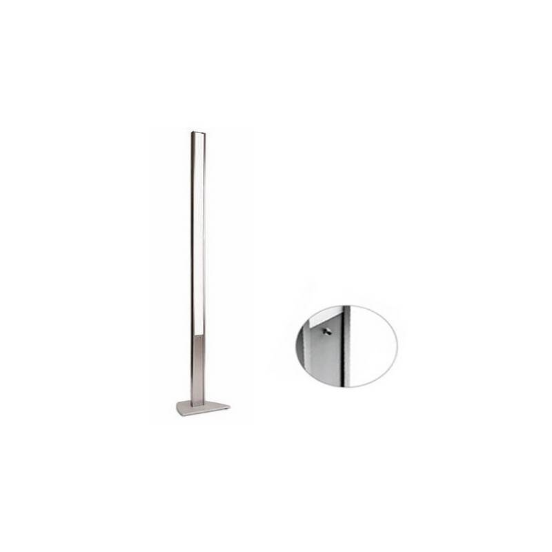 Lámpara de Pie de Salón de Aluminio Cromo  - 1x T5 54W con Regulador