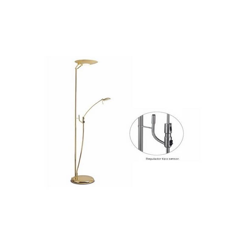 Lámpara de Pie de Salón Acero Niquel Mate  - 1 R7s 118mm 300W Máx.1xG6.35 50W Max  220V