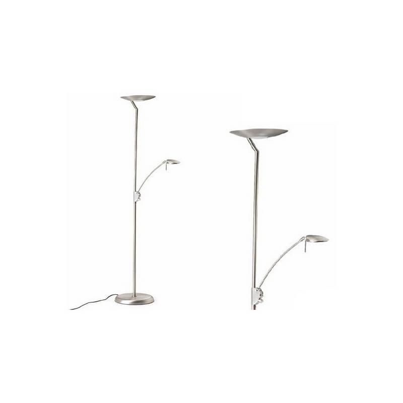 Lámpara de Pie de Salón Acero Patine  - 1 R7s 118mm 300W Máx.1xG9 40W Máx.  220V
