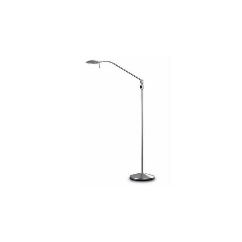 Lámpara de Pie de Salón Latón-Acero Niquel Mate - 1 G6.35 50W Máx. 12V