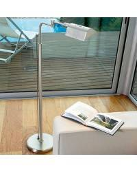 Lámpara de Pie de Salón Latón-Acero Niquel Mate   - 1 R7s 118mm 100W Máx.  220V