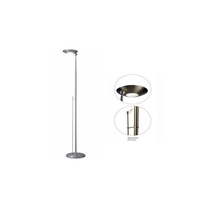 Lámpara de Pie de Salón Acero Niquel Mate  - 1 R7s 118mm 300W Máx.  220V