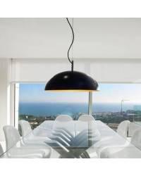Lámpara Colgante Aluminio BASIC Negro Bajo consumo - 1xE27  PL  25W