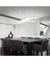 Lámpara Colgante de Aluminio - Gris - 4 x Panel LED 12W 400lm 3000K