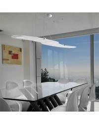 Lámpara Colgante de Aluminio - Blanco - 3 x Panel LED 12W 400lm 3000K