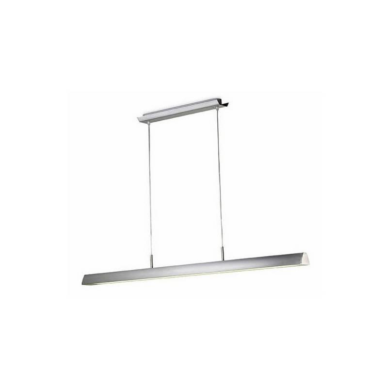Lámpara Colgante Aluminio URANO Niquel Mate Fluorescente - 1xT5 54W Máx.