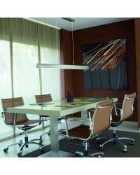 Lámpara Colgante Aluminio URANO Plata Fluorescente - 1xT5 54W Máx.