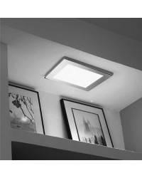 Plafón de aluminio ATENEA LED's color Cromo de techo con marco