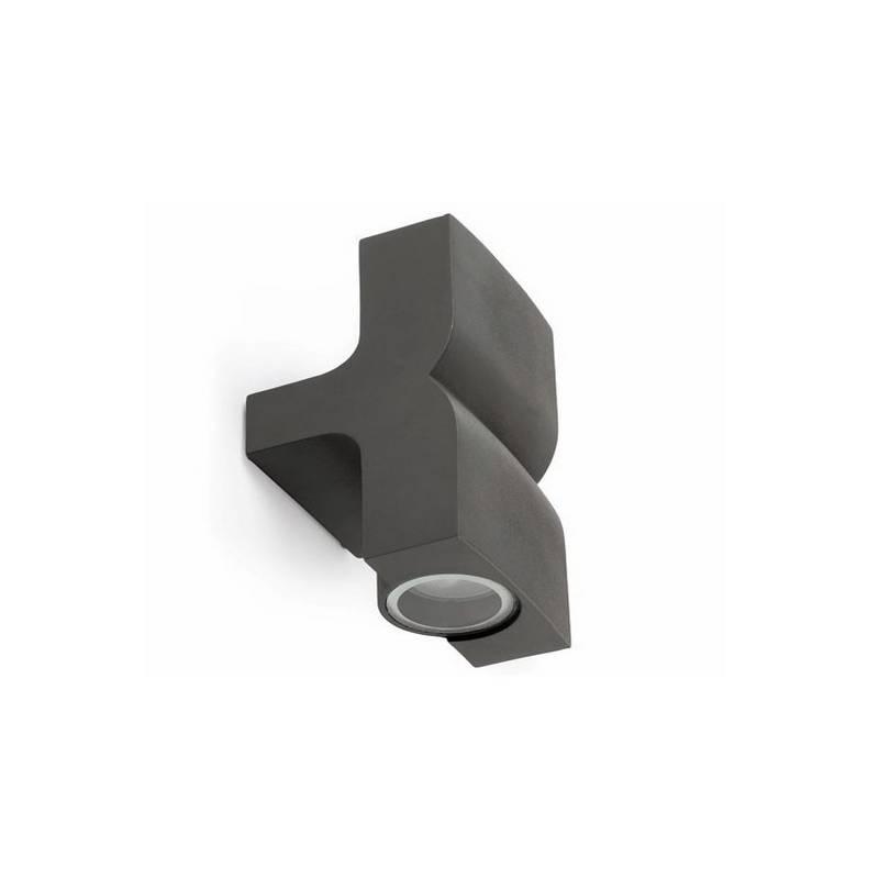 Aplique 2L de aluminio Iny. KLAMP Exterior Gris Oscuro