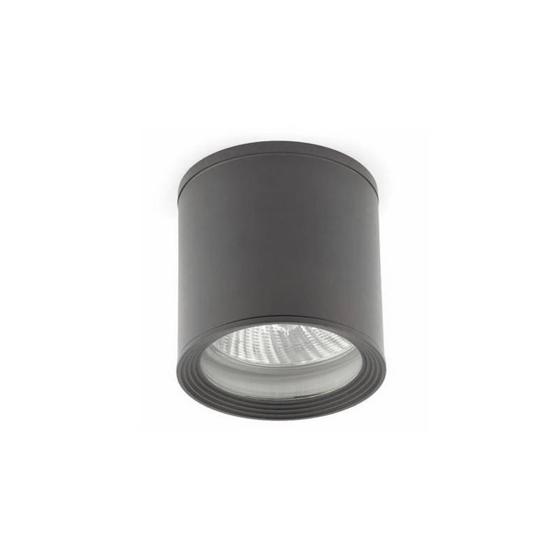 Plafón de Aluminio Iny. TASA Exterior Gris Oscuro para techo