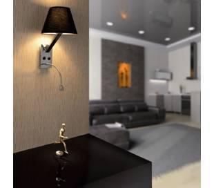 Aplique de metal MOMA-2 Interior Blanco para pared E27 y 1 led 1W