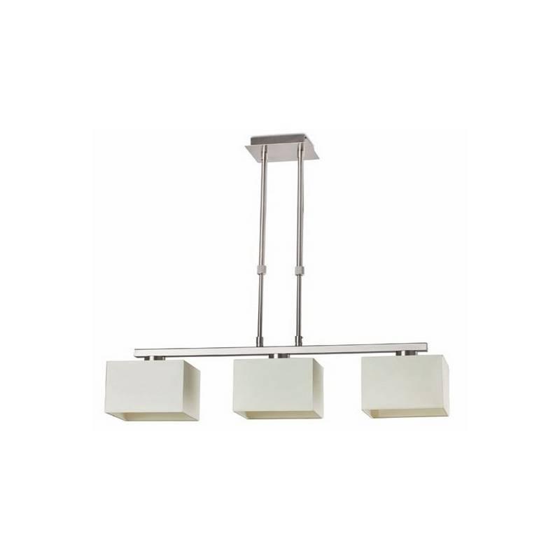 Lámpara colgante de 3 luces acero THANA Interior Blanco E27