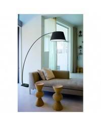 Lámparas Pie de Salón ZANZIBAR base de marmol E27 negro