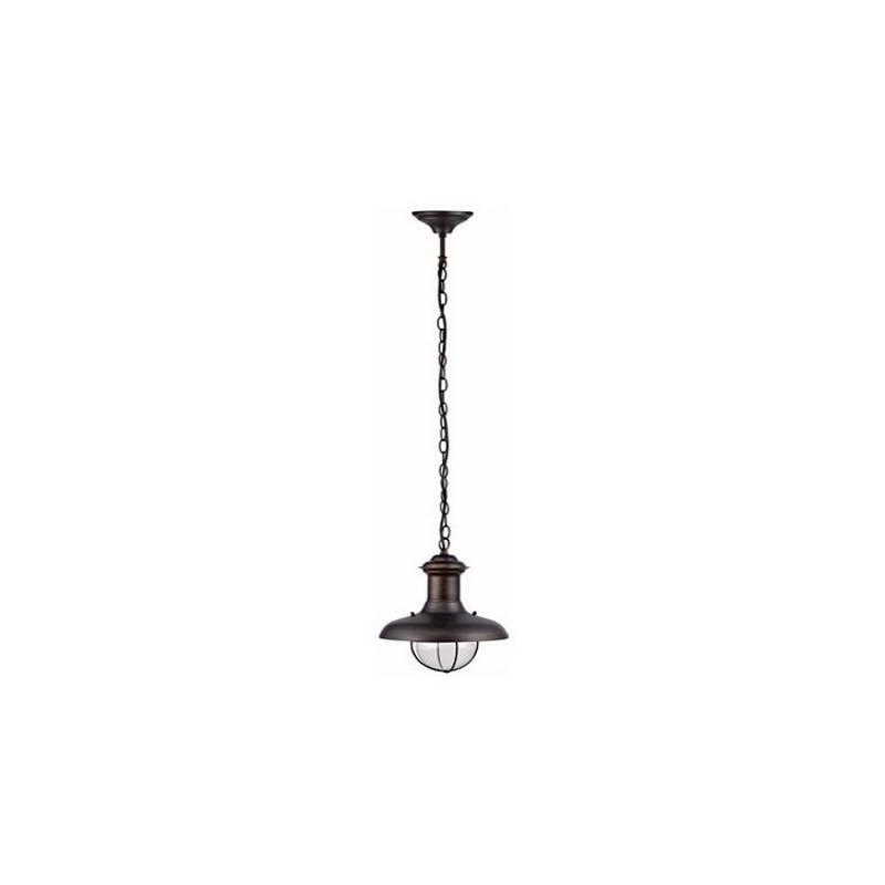 Lámpara Colgante de Metal ESTORIL-P para Exterior color Marrón Óxido para techo