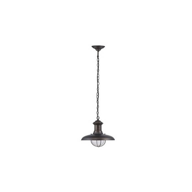 Lámpara Colgante de Metal ESTORIL-G para Exterior color Marrón Óxido para techo