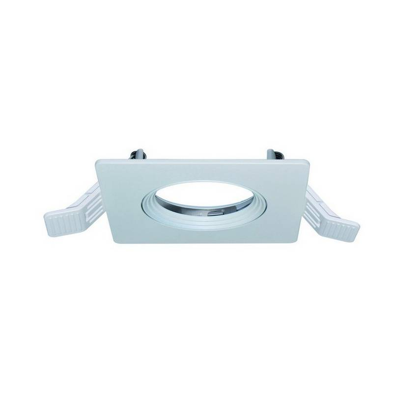 Lámpara empotrable cuadrada INEL ø90 IP20 blanco / cristal
