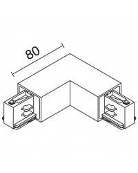 Unión curva externa TRACK blanco