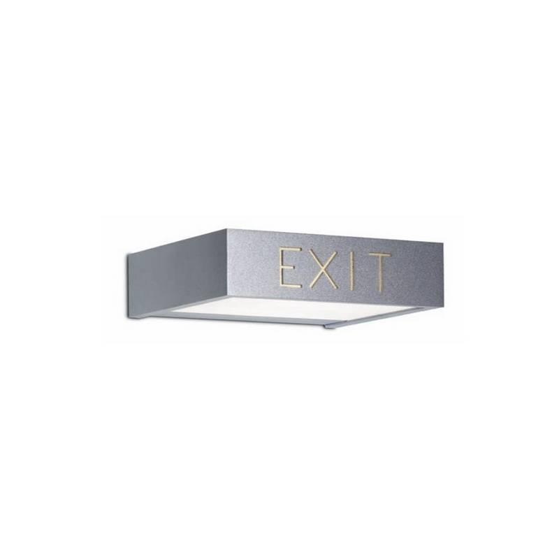 Aplique de latón APOLO Niquel Mate ambiente de pared fluorescente emergencia