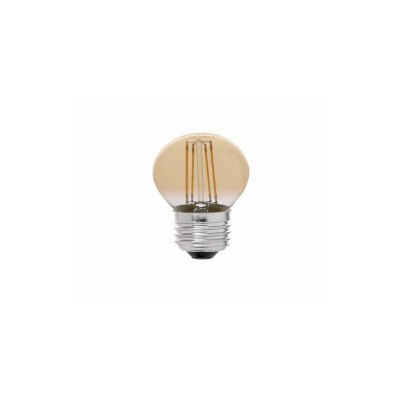 Bombillas LED Faro G45 E27 Led 4W Filamento Ambar Dimable 2200K