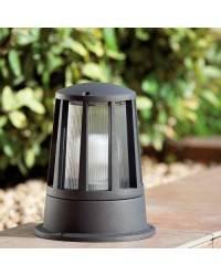 Baliza de Aluminio Iny. SURAT para Exterior color Gris Oscuro para suelo E27
