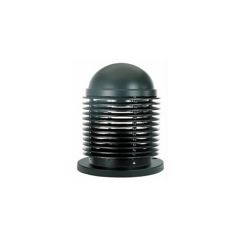 Baliza de Aluminio Iny. VERNO-P para Exterior color Negro para suelo E27