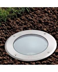 Lámpara Empotrable Aluminio Iny. TECNO-1 para Exterior color Inoxidable E27