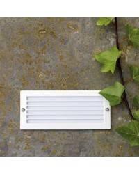 Lámpara Empotrable de pared de Metal ESCA para Exterior color Blanco E27