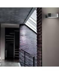 Aplique de aluminio ARCOS Antrcita Mate ambiente halógeno de pared