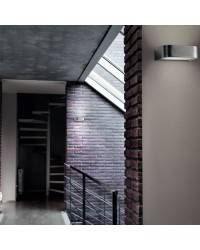 Aplique de aluminio ARCOS Niquel Mate ambiente halógeno de pared