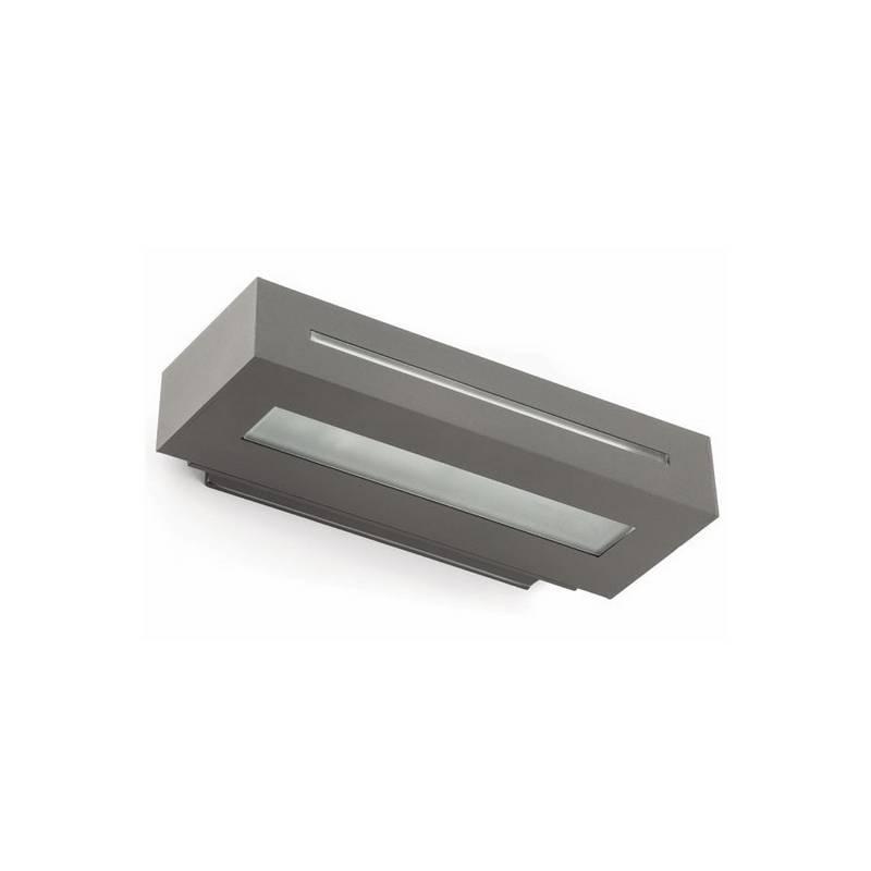 Aplique de aluminio Iny. WEST-1 Exterior Gris Oscuro E27