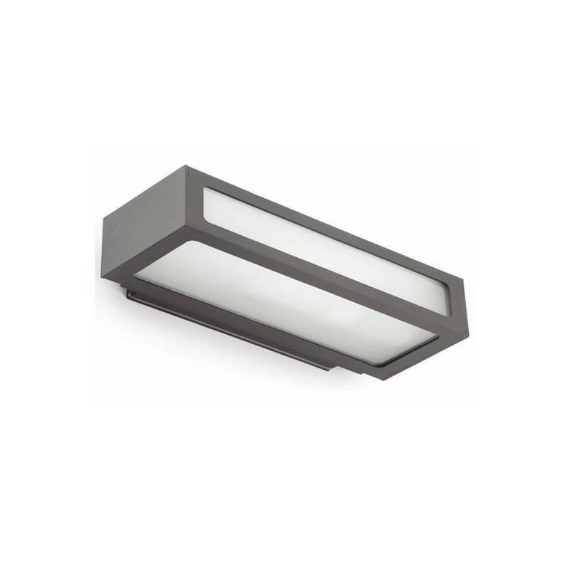 Aplique de aluminio Iny. NATRON Exterior Gris Oscuro E27