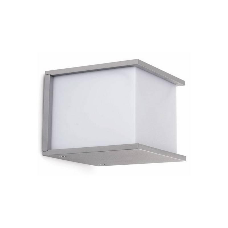 Aplique de Aluminio Iny. KUBICK para Exterior Gris E27