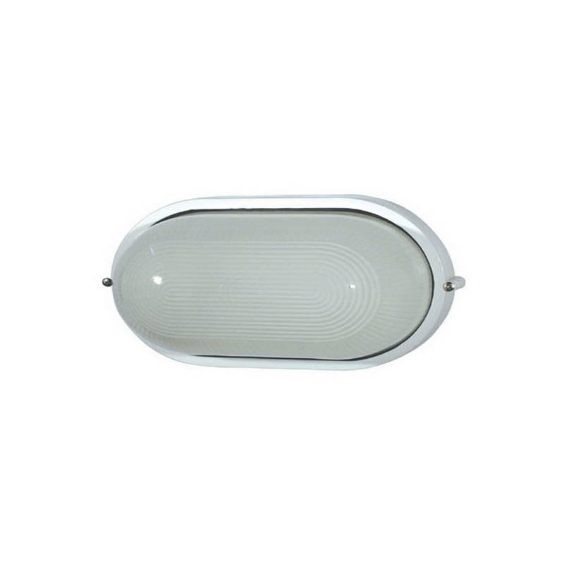 Aplique de Aluminio DERBY-G Grande para Exterio Blanco E27