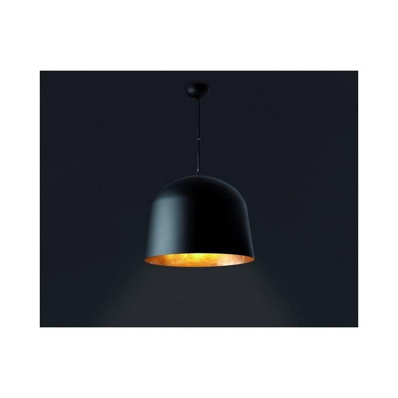 Lámpara colgante de Aluminio CRÁTER para Interior Negro Y Oro E27