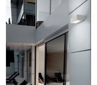 Aplique de aluminio APOLO-IP65 Negro ambiente bajo consumo de pared