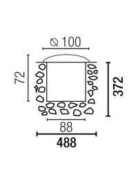 Aplique de  Acero y Aluminio Iny. para Empotrar LED-18 para Exterior Inox. LED EDISON