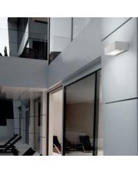 Aplique de aluminio ARCOS Niquel Mate ambiente bajo consumo de pared