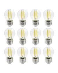Kit 12 lámparas LED FILAMENT E27 4W 470lm 3000K DOPO 858A-K12-632H-01