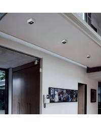 Aplique de aluminio ESFERIC Niquel Mate ambiente bajo consumo de pared