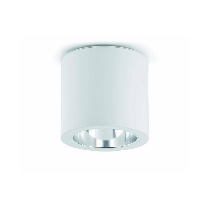 Downlight superficie de Aluminio POTE-1 para Interior Blanco E27