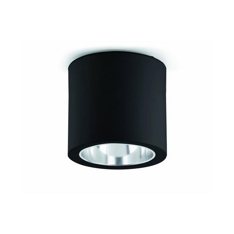 Downlight superficie de Aluminio POTE-1 para Interior Negro E27