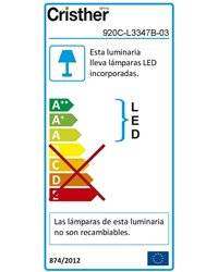 Proyector para exterior WALK LED 47W 4000K 5600lm 14º Gris CRISTHER 920C-L3347B-03
