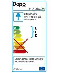 Lámpara empotrable para exterior Pared WIND IP55 LED R7s 11W 3000K Negro DOPO 949A-L3111A-02