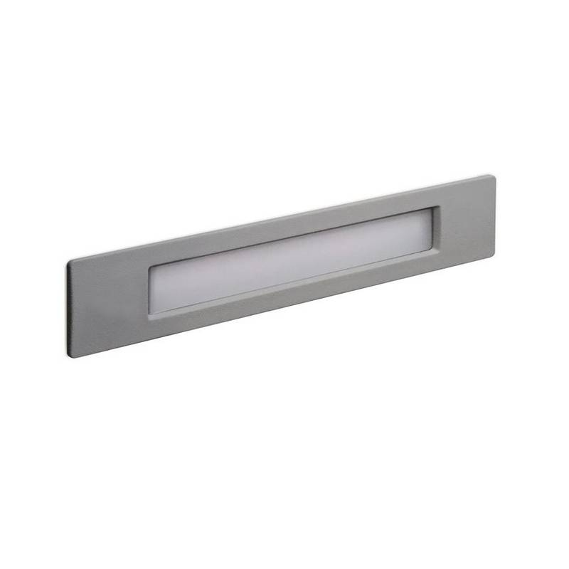 Lámpara empotrable para exterior Pared WIND IP55 LED R7s 11W 3000K Gris DOPO 949A-L3111A-03