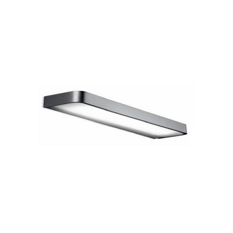 Aplique de aluminio ARCOS Niquel Mate ambiente fluorescente de pared