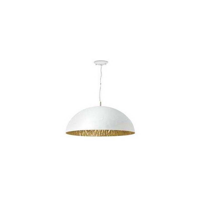 Lámpara colgante techo Fibre de Vidrio MAGMA P  para Interior Blanco-Oro E27