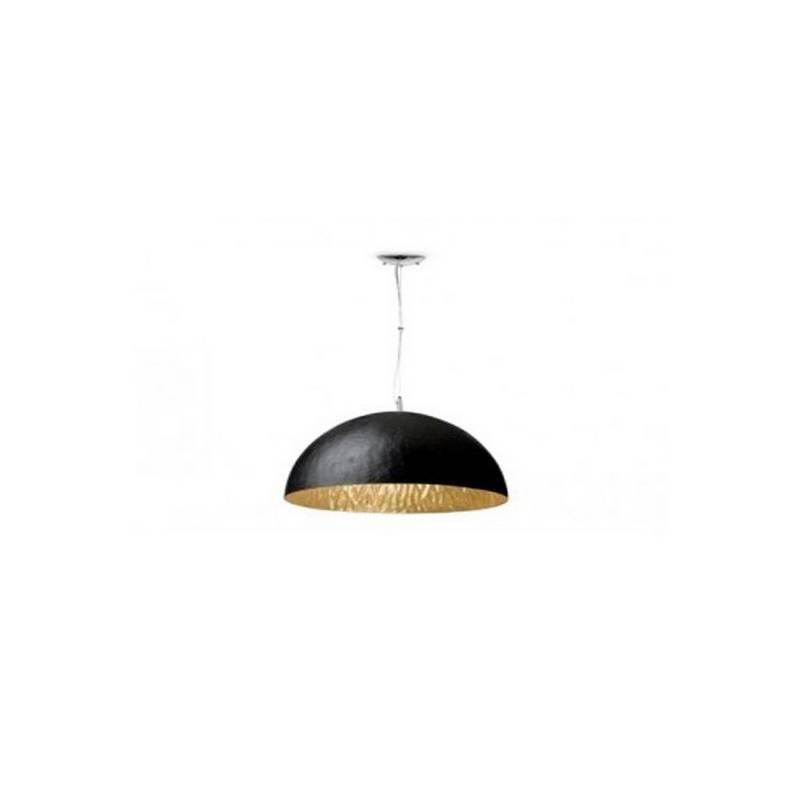Lámpara colgante techo Fibre de Vidrio MAGMA P  para Interior Negro-Oro E27