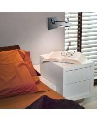 Aplique de aluminio-Acero DEL Niquel Mate ambiente LED's de pared articulado