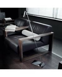 Lámpara de Pie de Salón Color Niquel Mate de Aluminio  - 1x LED 4W 3000K