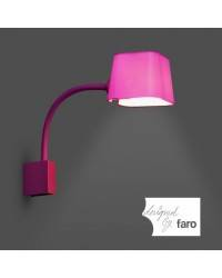 Aplique pared Acero FLEXI para Interior Fucsia E27